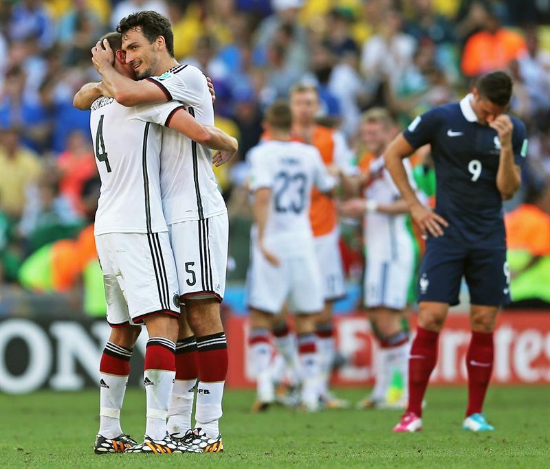 Las imágenes del triunfo alemán sobre Francia