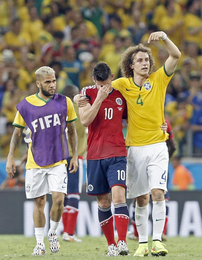 Brasil avanza a semifinales al derrotar a Colombia. Foto: EFE