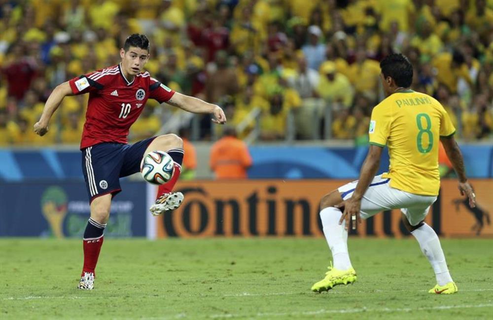 James Rodríguez es el actual goleador del Mundial con seis goles. Foto: EFE