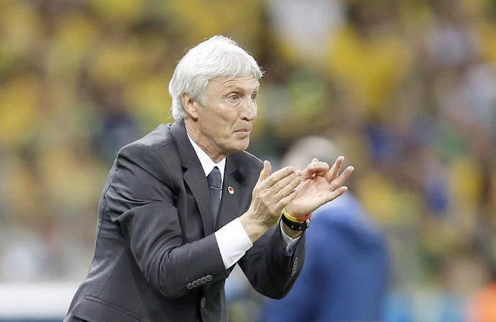El entrenador de la selección Colombia José Pékerman. Foto: EFE