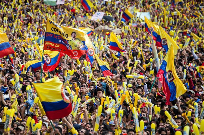 Galería de la llegada de la Selección Colombia a Bogotá