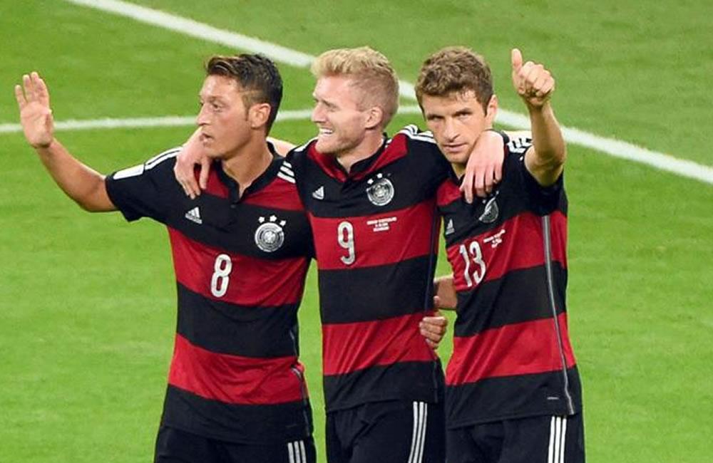 Así llegó Alemania a la final: cinco victorias y un empate. Foto: EFE