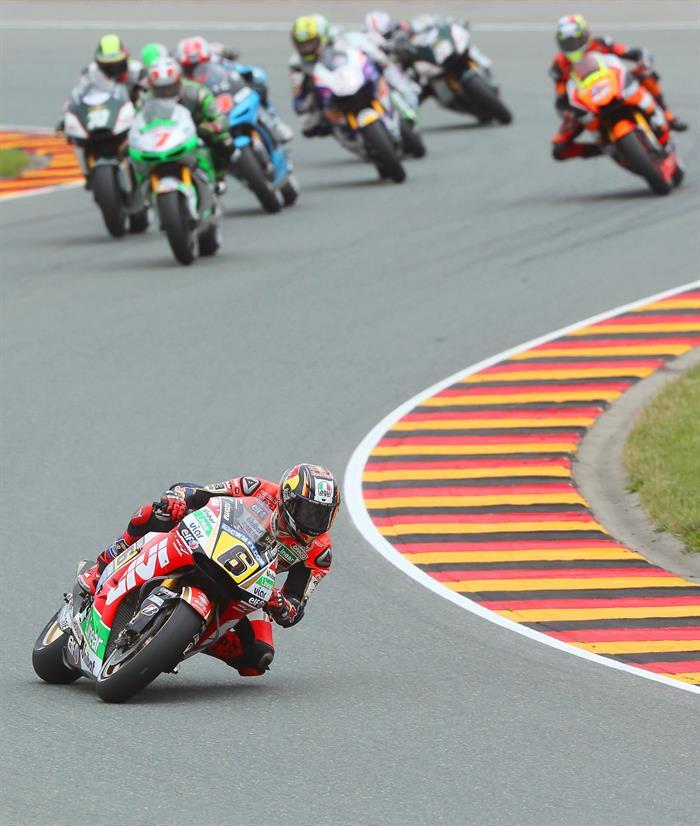 Así se disputó el Gran Premio de Alemania en el circuito de Sachsenring. Foto: EFE