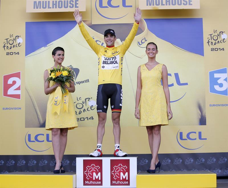 El contrarrelojista Martin gana en los Vosgos y Gallopin se viste de amarillo