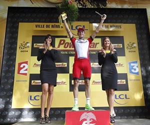 Kristoff gana el esprint de Nimes y Nibali sigue de amarillo