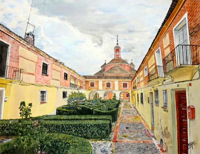 Plaza pueblo viejo aranjuez.