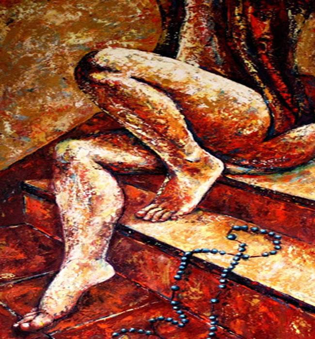 Vulnerabilidad y fe - Mixta sobre lienzo