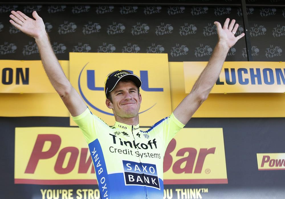 Rogers brilla en los Pirineos y Valverde refuerza su podio