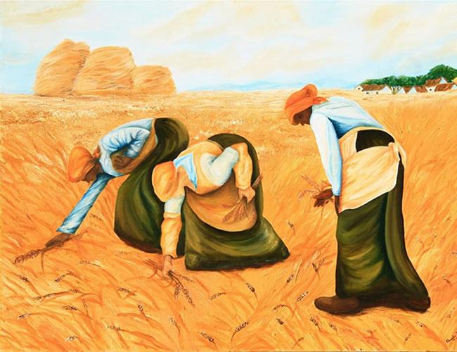Recogedoras de trigo.