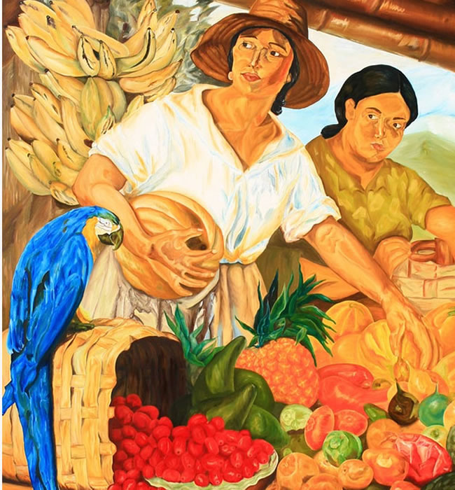 Vendedoras de frutas.