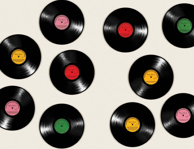 Sueños que cualquiera puede cantar. Discos de vinilo intervenidos.
