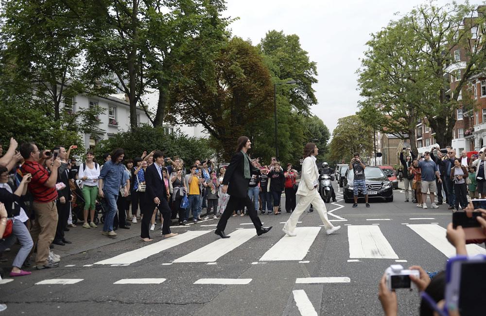 Así se vivió el 45 aniversario de la foto de The Beatles en Abbey Road