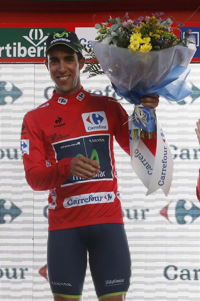 El español Jonathan Castroviejo, primer líder de la Vuelta. EFE
