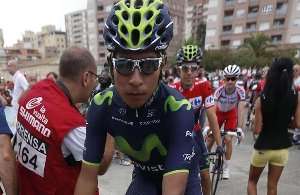 El ciclista colombiano del equipo Movistar Nairo Quintana. Foto: EFE