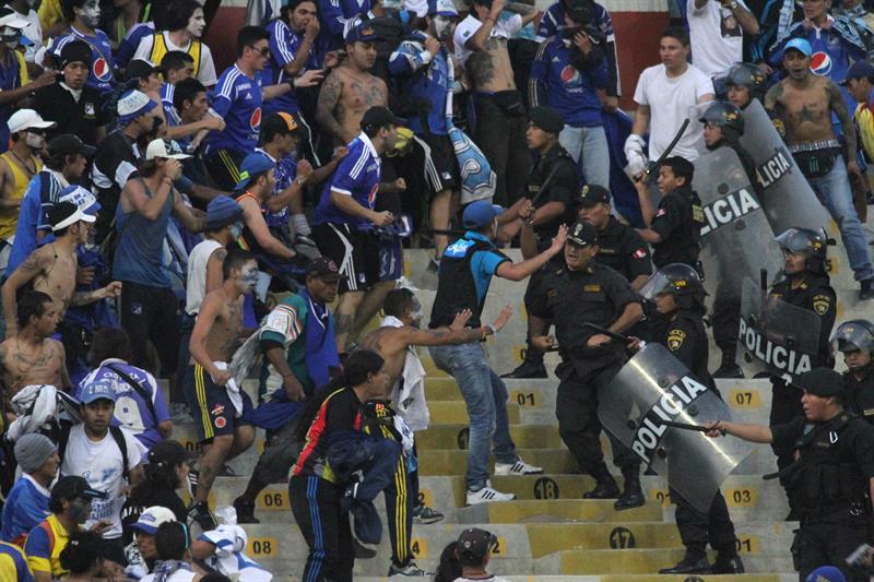 Millonarios empató 2-2 en la vuelta pero se quedó porque en la ida había perdido 2-1. Foto: EFE