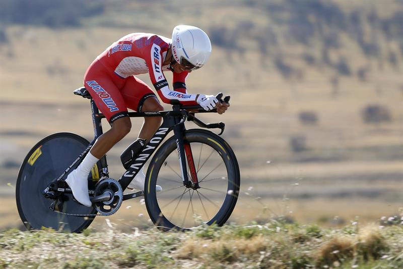 El ciclista del equipo Katusha, Joaquim