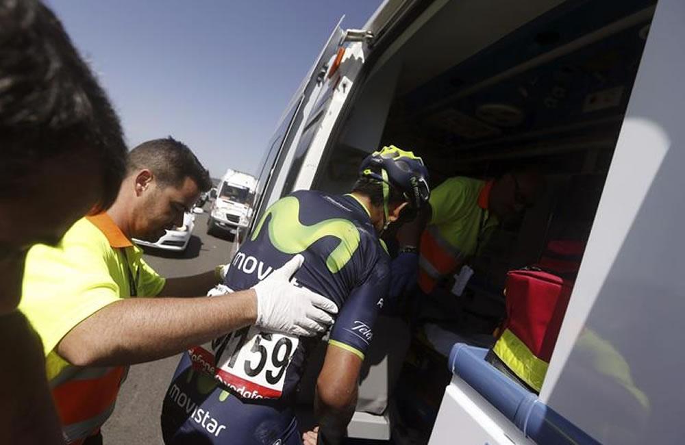 El colombiano Nairo Quintana, que ha abandonado la Vuelta 2014. Foto: EFE
