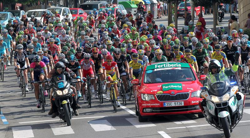 El lider de la Vuelta Ciclista a España. EFE
