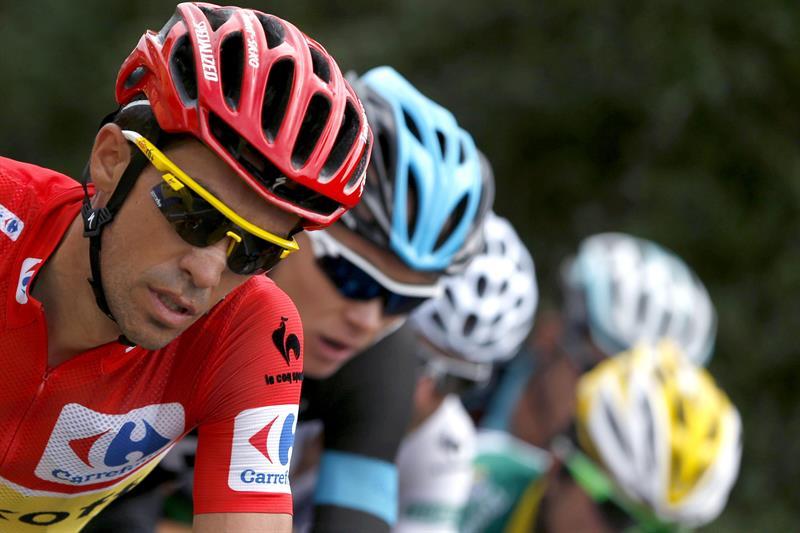 El ciclista español del equipo Tinkoff Saxo, Alberto Contador durante la decimocuarta etapa. EFE