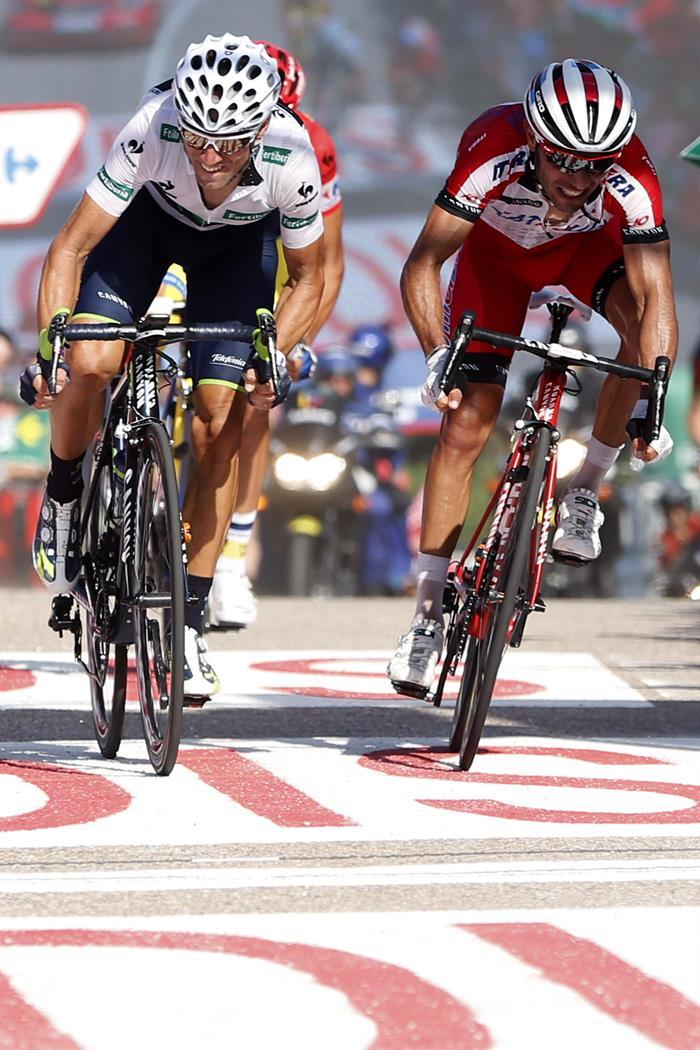 Los ciclistas españoles, Alejandro Valverde (i) y Joaquím