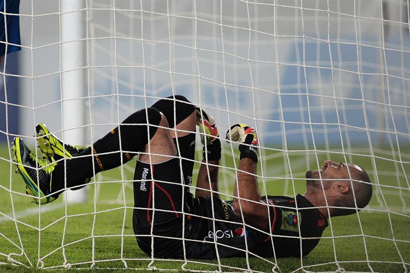 Cali perdió 1-0 de local ante Peñarol y quedó afuera. Foto: EFE.