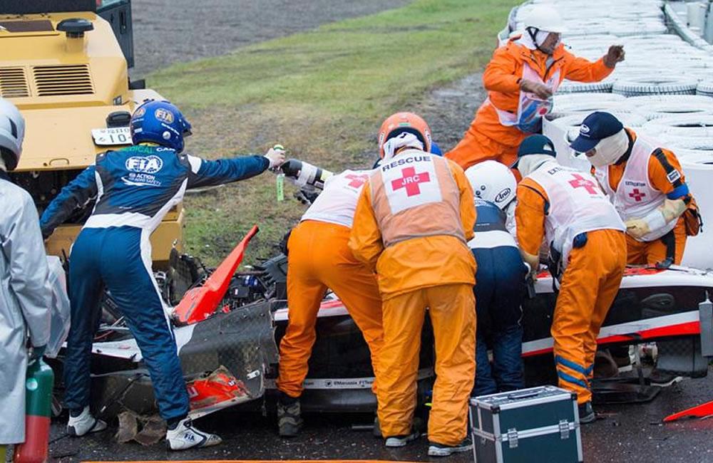 """Marussia niega que ordenara a Bianchi """"ir más rápido"""" con bandera amarilla. Foto: EFE"""
