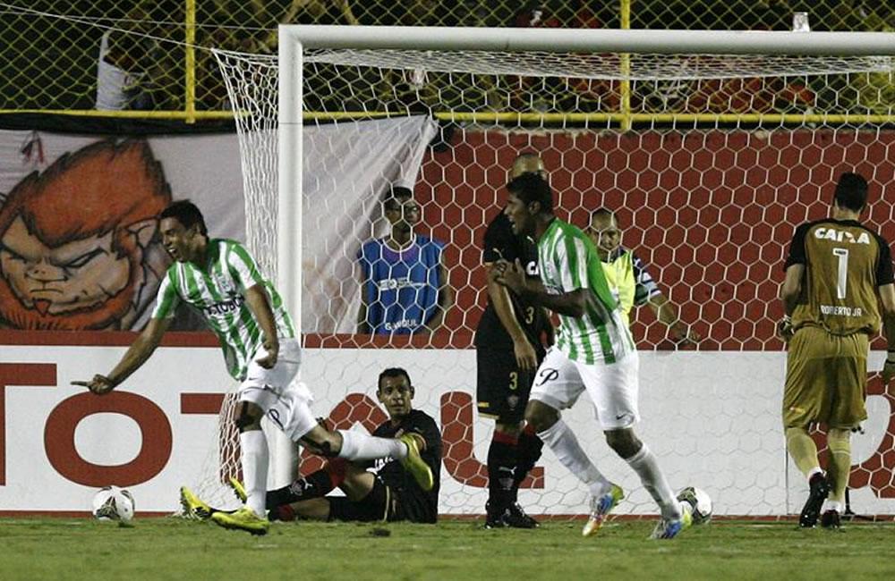 El equipo colombiano Atlético Nacional. Foto: EFE