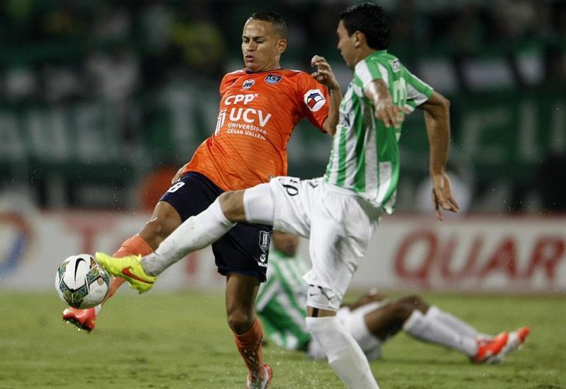 Nacional venció 1-0 a César Vallejo en la ida de los cuartos de la Copa Sudamericana. Foto: EFE