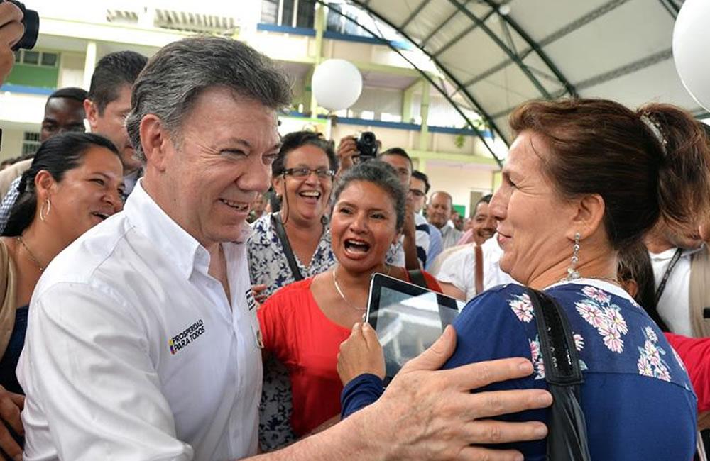 Santos dice que liberación de general propicia reanudación de diálogos de paz. Foto: EFE
