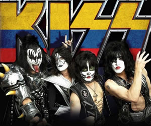 Kiss regresa a Colombia