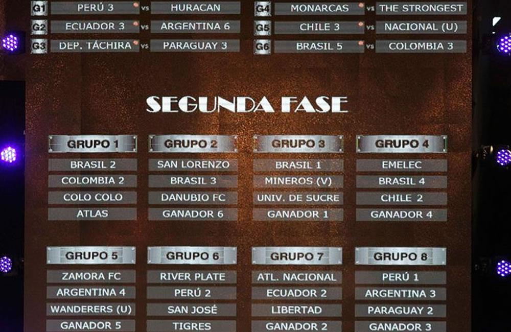 Vista general de la programación de la Copa Libertadores de América 2015. Foto: EFE