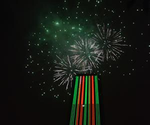 Llegó la navidad a la torre más alta de Colombia