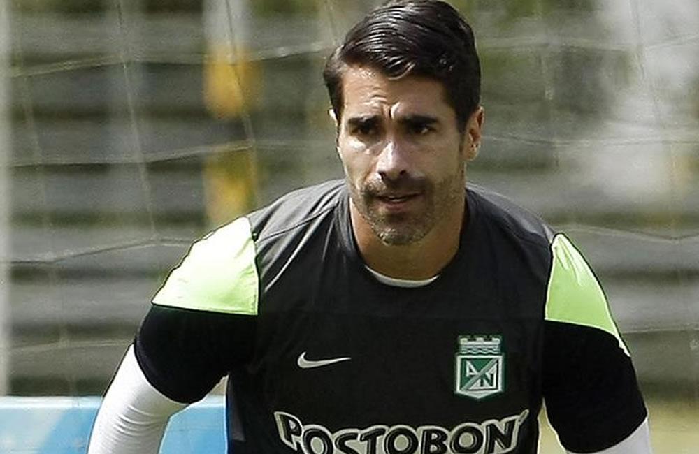 El jugador del equipo colombiano Atlético Nacional Juan Pablo Ángel. EFE