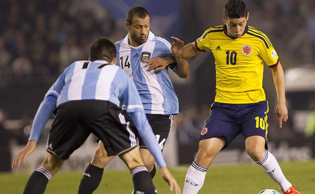 Argentina finalizó segunda y Colombia tercera en el ránking de la FIFA. Foto: EFE