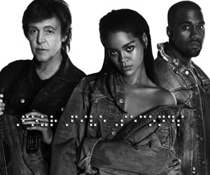 Rihanna, Kanye West y Paul McCartney estrenan vídeo