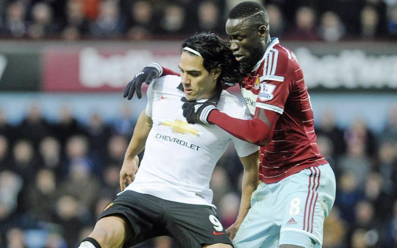 El United empató 1-1 con el West Ham, pero Falcao no anotó. Foto: EFE