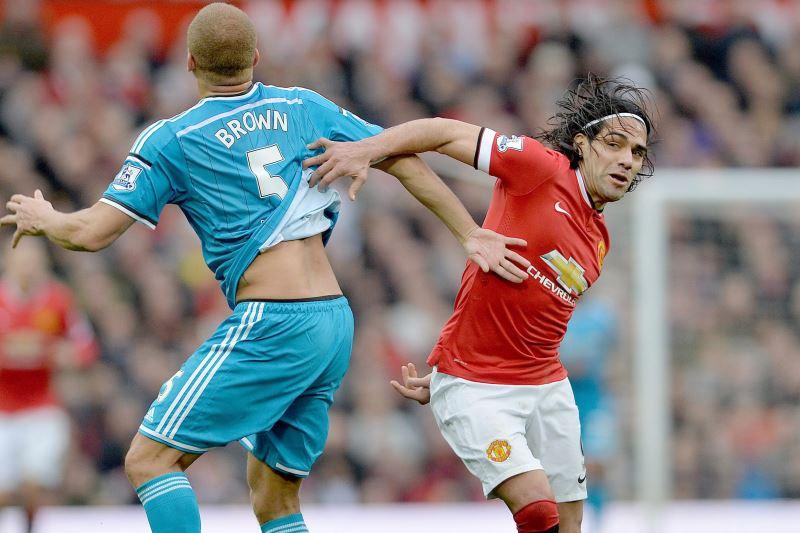 A Falcao García le hicieron un penalti en el 2-0 del M. United sobre el Sunderland. Foto: EFE