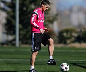 James continúan en mejoría pero se perdería el clásico con el Barcelona