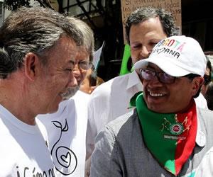 Santos se une con su familia a la Marcha por la Vida de Bogotá