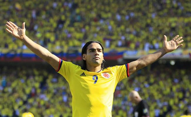 El jugador colombiano Falcao García. Foto: EFE