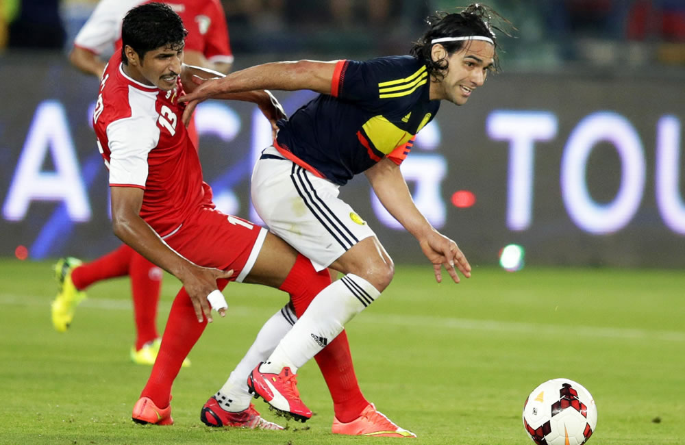 El delantero de la selección colombiana, Radamel Falcao. Foto: EFE