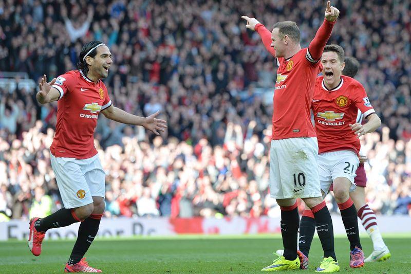 Falcao García entró en el minuto 77 y el Manchester United ganó 3-1. Foto: EFE