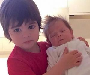 Instagram: Milan y Sasha por fin posan juntos