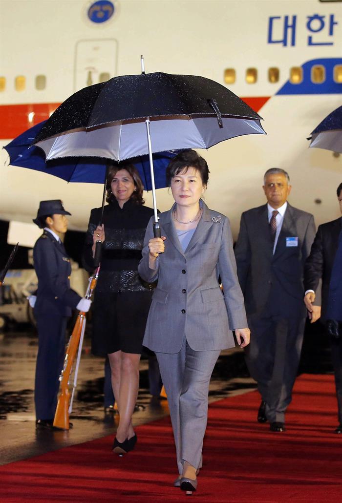 La presidenta de Corea del Sur, Park Geun-hye, visita Colombia y apoya el proceso de paz. Foto: EFE