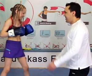 Niña boxeadora es furor en Youtube