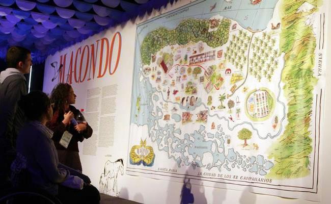 El pabellón honorífico también rescata la faceta de periodista y cineasta de Gabo. Foto: EFE