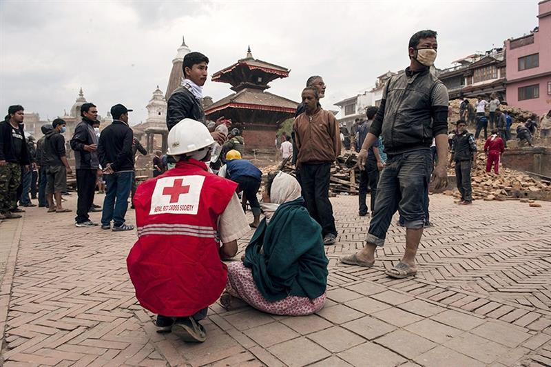 Terremoto de 7,8 grados que golpeó Nepal. Foto: EFE