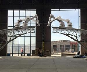 Robot construirá puente impreso en 3D