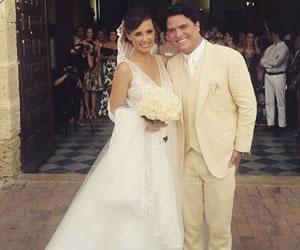 Milena López se casó en Cartagena