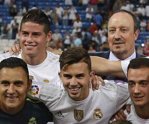 """""""James va por detrás del resto"""", DT del Real Madrid"""